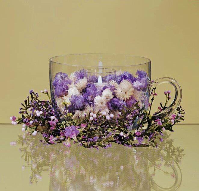 .: Centerpiece, Teacup Floral, Floral Decor, Google Search, Purple Passion, Bridal Shower, Floral Arrangement, Decoration Ideas