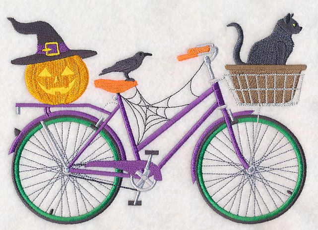 Boo Crew Bicycle design (M5760) from www.Emblibrary.com