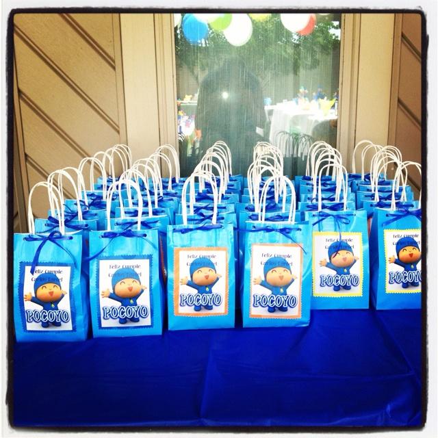 DIY Pocoyo party candy bags