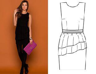 Маленькое черное платье. ( Little black dress, история и выкройки)