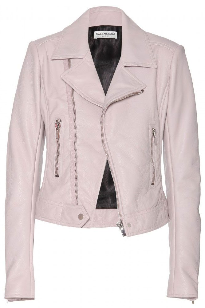 The 15 Best Leather Jackets Right Now- A perfect pink moto.