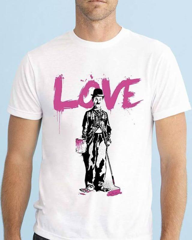 https://www.navdari.com/products-m00485-CHARLIECHAPLINLOVEDESIGNTSHIRT.html #love #banksy #charlie #chaplin #TSHIRT #CLOTHING #Men #NAVDARI
