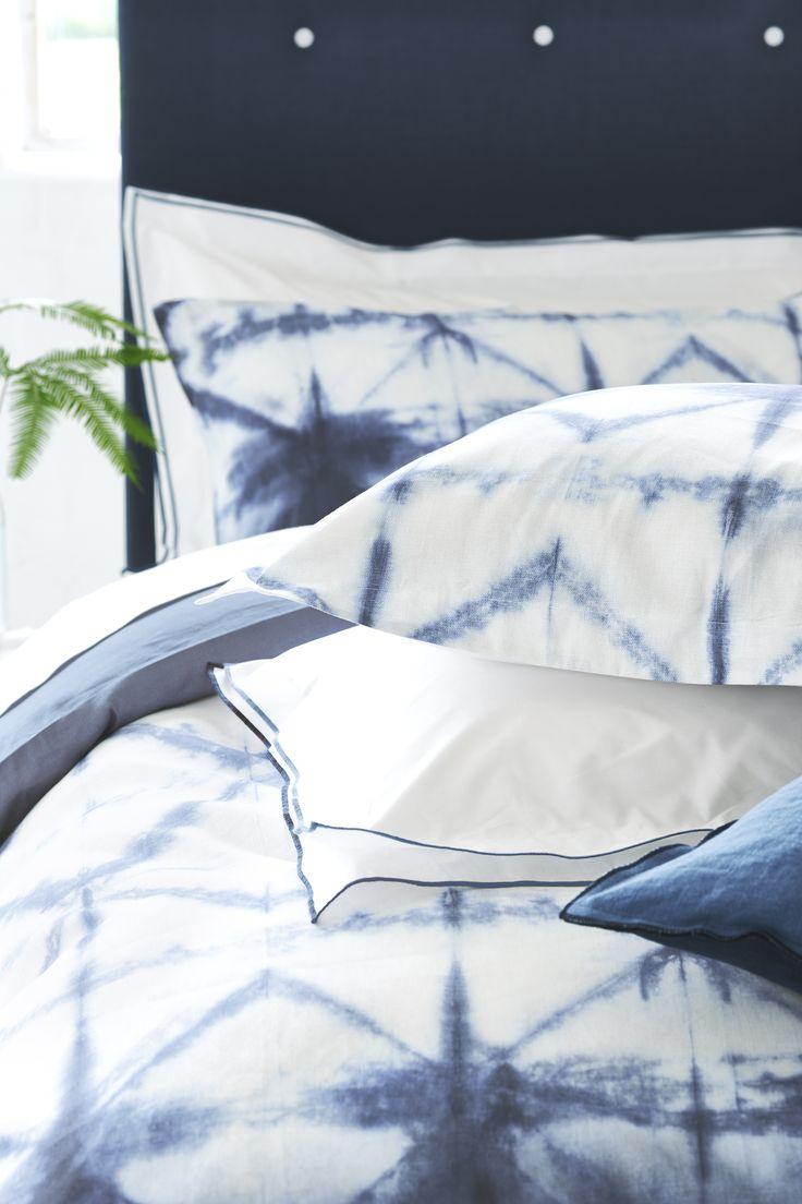 Seraya bedlinen-The artisanal technique of tie-dye inspires this contemporary bed linen print