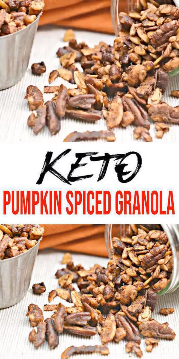 BEST Keto Granola! Low Carb Keto Kürbis Spiced Granola Idea – Schnell & Einfach Ketogene Diät Rezept – Komplett Keto-freundlich