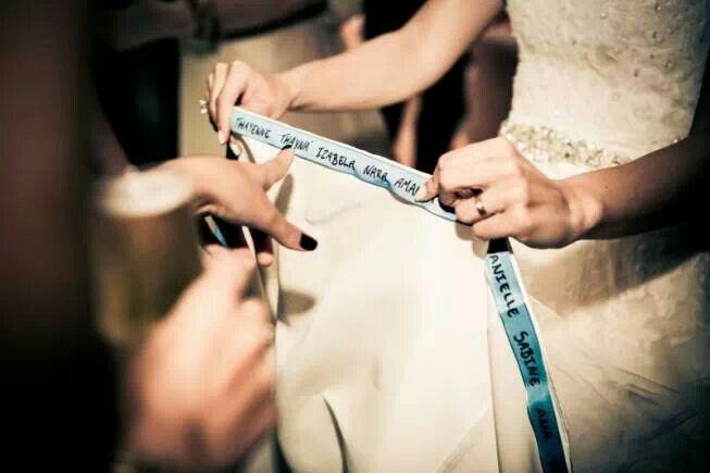 Quem quer nome na barra do vestido?