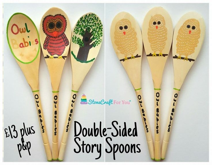 Owl babies story spoons!