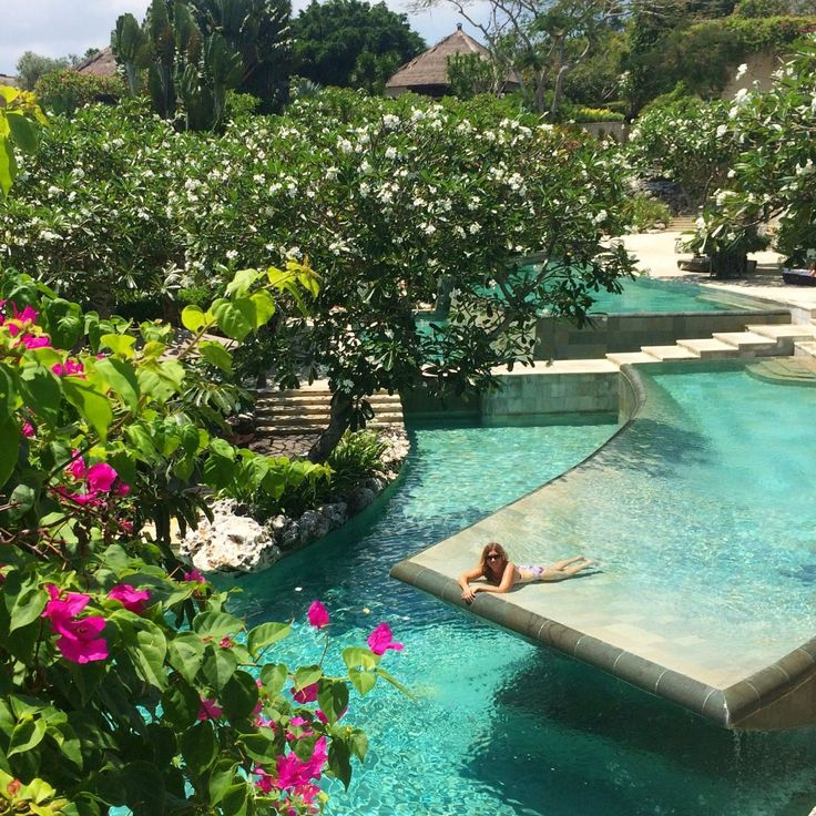 The gorgeous River Pool at the Ayana Resort in Bali. Want to know more about this resort and Rimba hit the link.