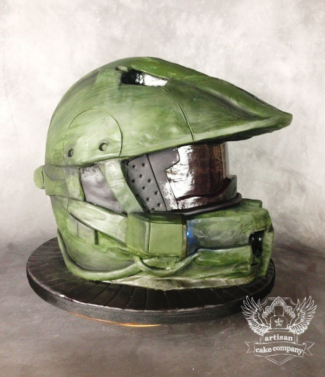 Halo helmet cake tutorial   Artisan Cake Company This is amazing!!!!