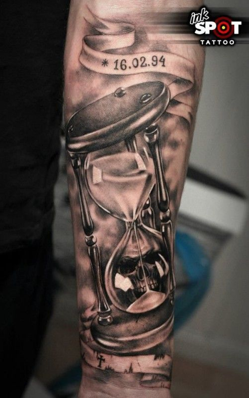 Can you see the skull in this Ink Spot tattoo?