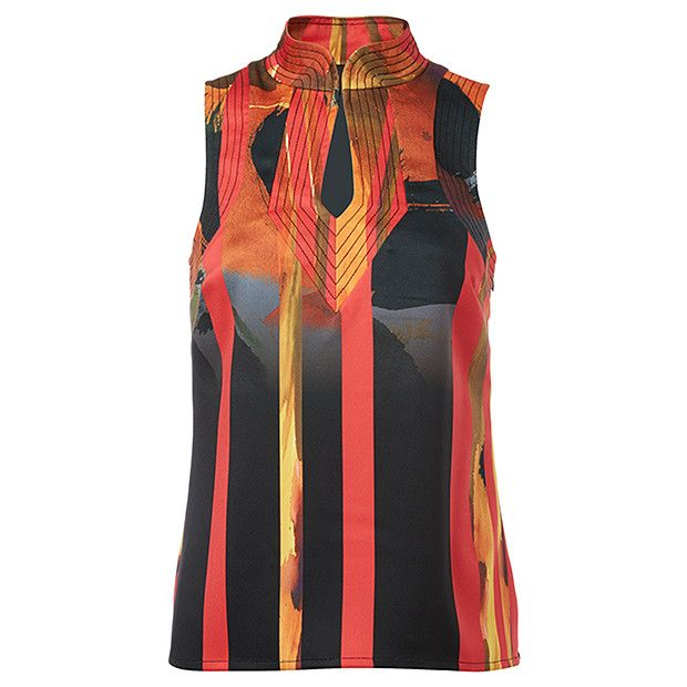 Runway to Rack Cut-Out Shell Top - Multi Print