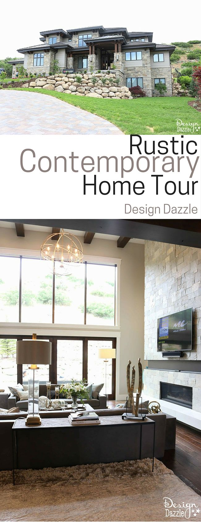 Amazing Rustic Contemporary Home Tour! | Design Dazzle