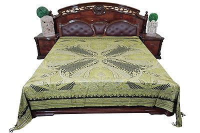 INDIAN-BEDDING-PASHMINA-WOOLEN-GREEN-COVERLETS-BEDSPREAD-BED-THROW-KING-SIZE   http://stores.ebay.com/mogulgallery/BEDSPREADS-/_i.html?_fsub=353416419&_sid=3781319&_trksid=p4634.c0.m322