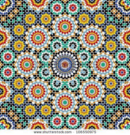 Free Moroccan Patterns | Razil Morocco Pattern Stock Vector 106550975 : Shutterstock