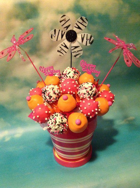 cute cake pops bouquet