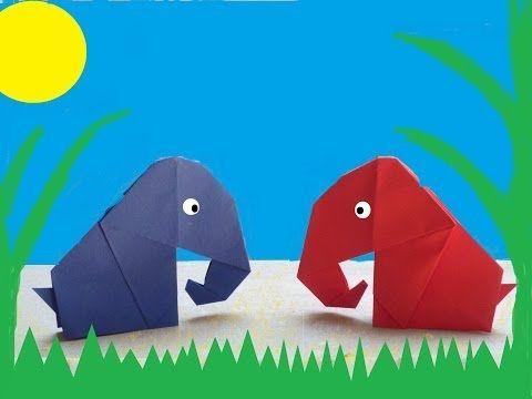 Cómo hacer un elefante de origami ... - YouTube