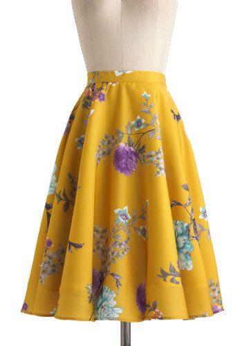 LOVE THIS SKIRT! SO expensive though... Eye for Ikebana Skirt   Mod Retro Vintage Skirts   ModCloth.com