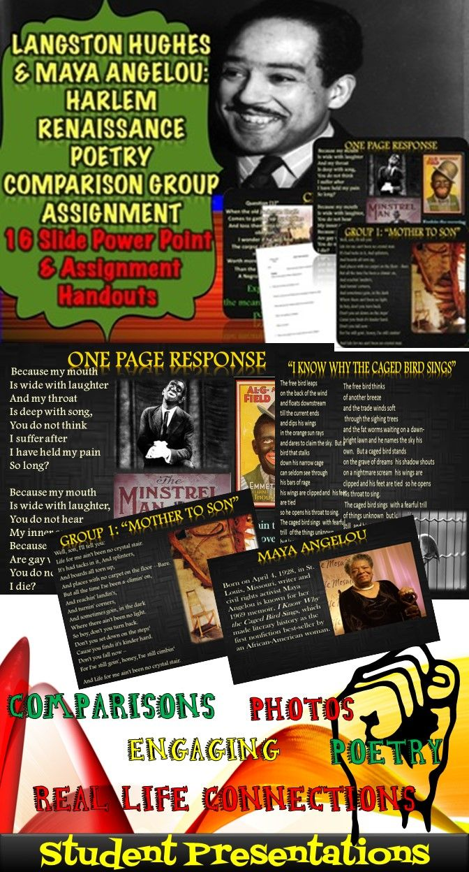 comparison of langston and angelou Mother to son analysis and summary by langston hughes  summary and analysis of phenomenal woman by maya angelou  beaming notes.