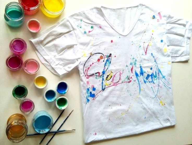 DIY : customisé un tee shirt avec de la peinture acrylique. #fashion #color #custom #cleonmama