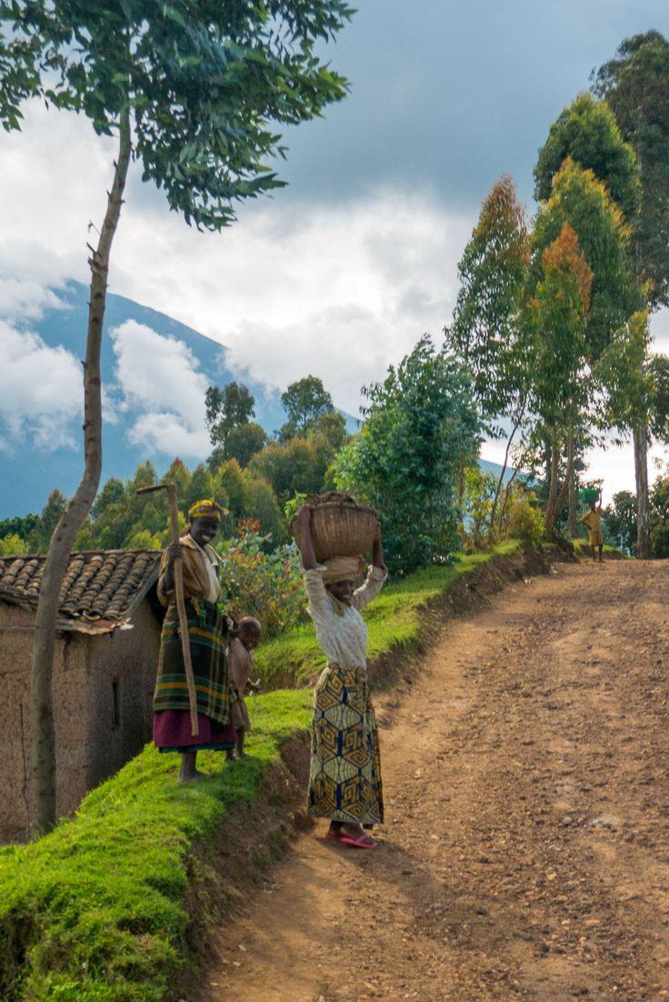 Village life from the mountaneous region of Musanze, Rwanda
