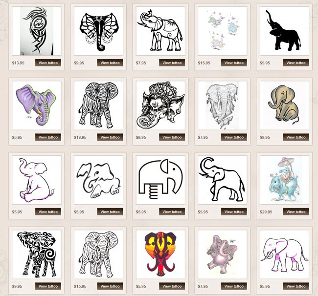 Elephant Tattoo Meanings | iTattooDesigns.