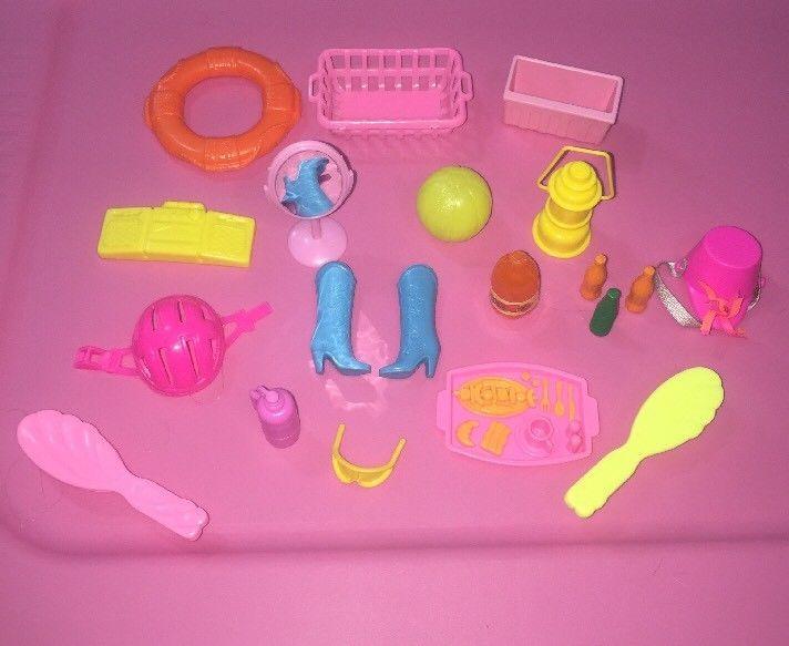 Lot Bundle 20 Barbie 80s Toys Mattel Accessories Boom Of Box 90s Era TKculF31J5