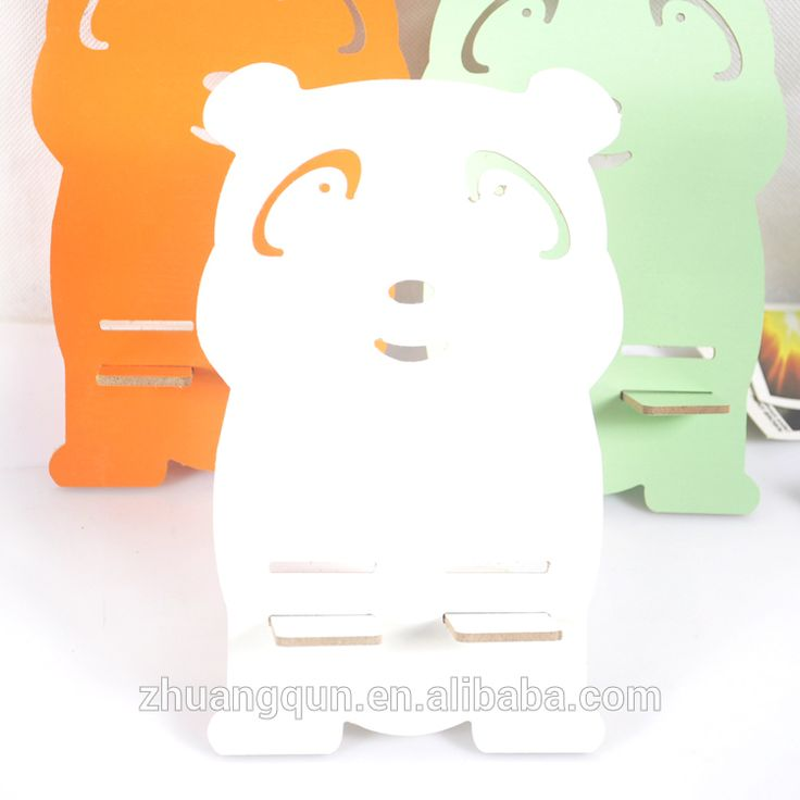 Cheap bear shape DIY wood mobile stand