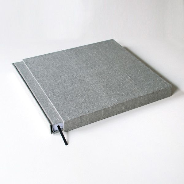 Guestbooks – Linen book with hard cover 30x30cm 50 pages – a unique product by Kajet on DaWanda