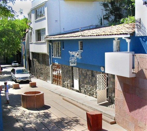 neruda's house in the hills above santiago is known as la chascona, a quechua word meaning disorderly or disheveled, and an affectionate reference to the curly, knotted hair of the poet's third wife, matilde urrutia.