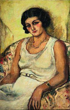 Klarra Szepessy (1932) by Amrita Sher-Gil, Indian; Hungarian-born (Wikipedia)
