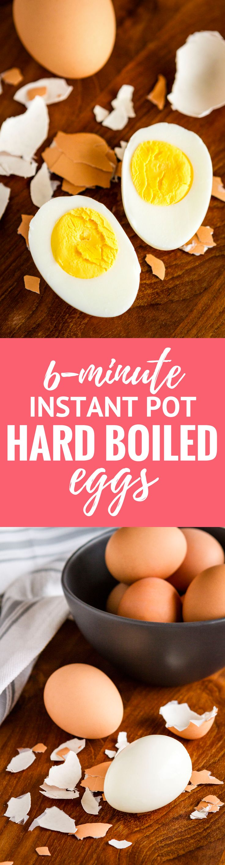 Instant Pot Hard Boiled Eggs -- these Instant Pot eggs turn out *amazing* every time! They're easy to peel, perfectly cooked and never have those icky green yolks... This is the perfect recipe for learning how to use your new electric pressure cooker! | unsophisticook.com