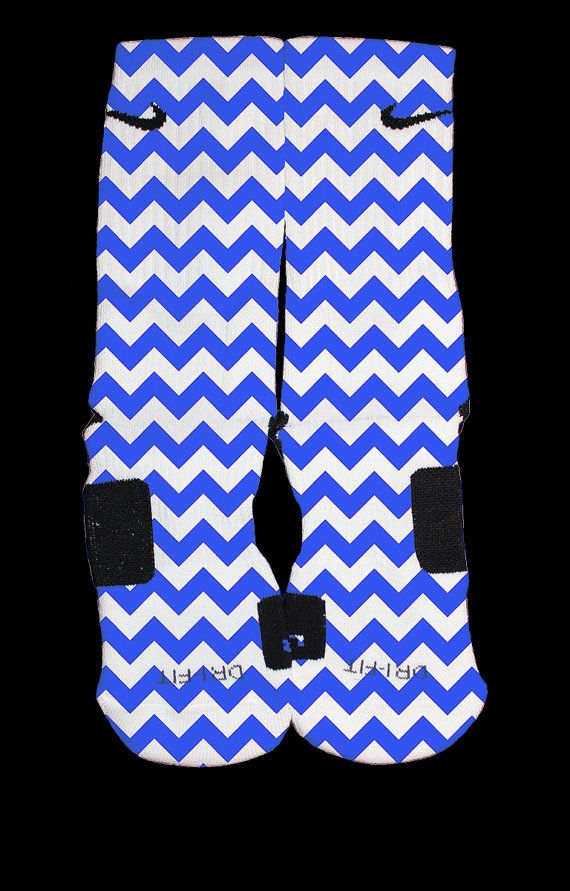 Bedazzling Blue Chevron custom Nike Elite Socks by TheSickestSocks, $35.99