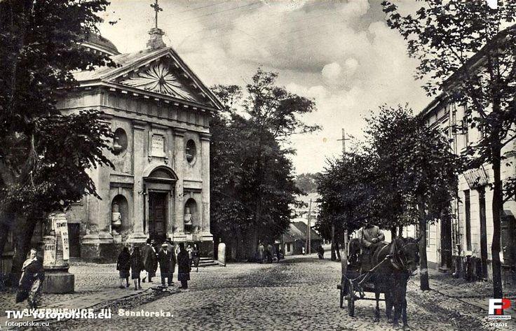 Kościół św. Jakuba, Skierniewice - 1922 rok, stare zdjęcia