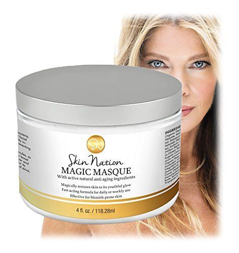 Magic Masque with Active Natural Antiaging Ingredients  Uniquely Effective for BlemishProne Skin Skin Nation by Michelle Stafford -- You can find more details by visiting the image link.