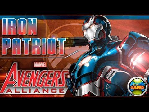 Patriota de Ferro Marvel Avengers Alliance Todos Ataques