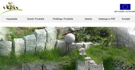 SGRAN Natursteine: Produkte aus Granit und Findlingen