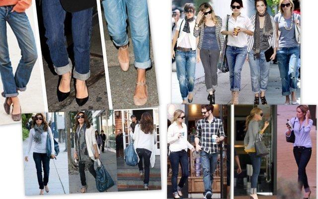 Закатанные джинсы с туфлями фото