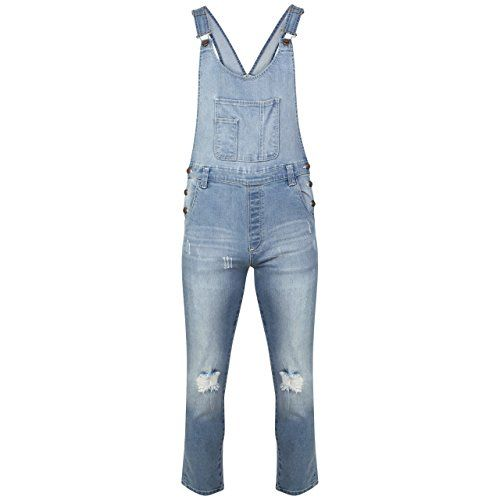 New Ladies Womens Regular Fit Fades Denim Dungaree Jumpsuit UK Size 8-16 - http://www.darrenblogs.com/2017/03/new-ladies-womens-regular-fit-fades-denim-dungaree-jumpsuit-uk-size-8-16/