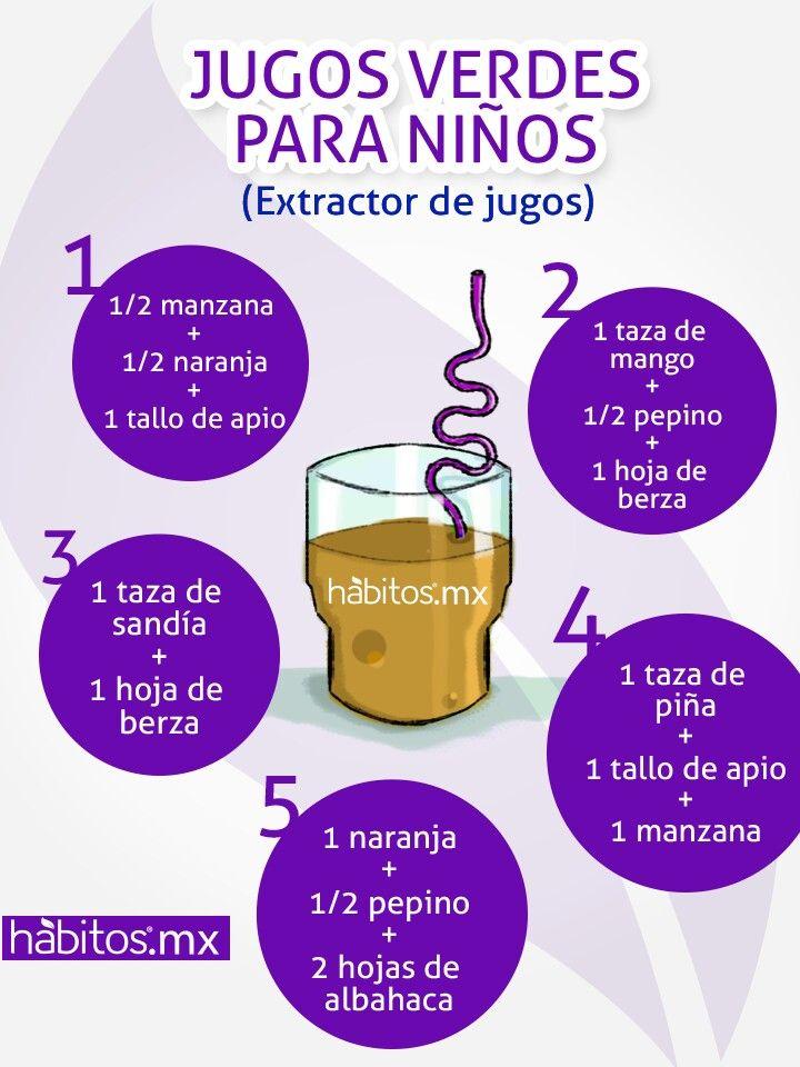 Juguitos  verdes para los NIÑOS ... fuente: hábitos.mx