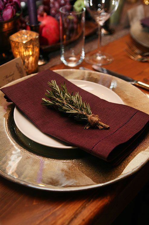 i rather like the idea of rosemary ak place settings for wedding reception table decor ideas