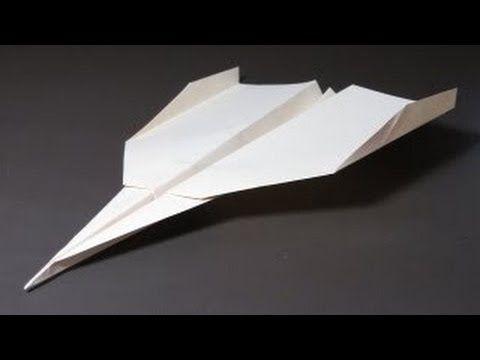 КАК СДЕЛАТЬ САМОЛЁТ ИЗ БУМАГИ, Страйк Игл, Strike Eagle , Paper Airplane, оригами, origami - YouTube