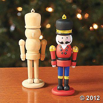 Craft Idea - Design Your Own Wood Nutcracker Ornaments