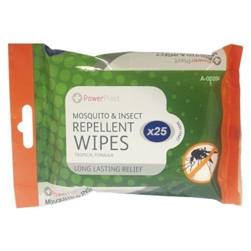 Anti Mosquito Wipes Insect Repellent x25wipes Bite Pain Relief Necessary Travel
