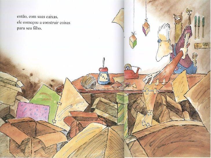Leitão de criança !: O homem que amava caixas   – Escola