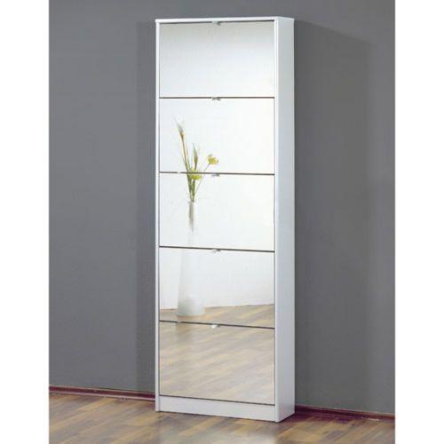 shoe storage cabinet with mirror doors 2