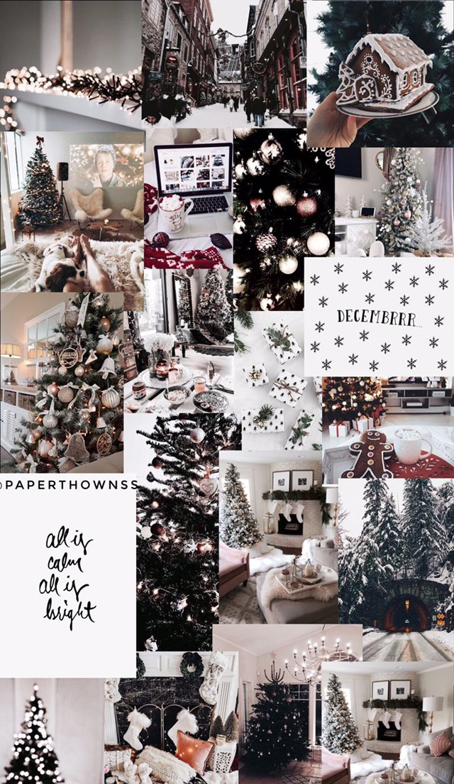 Christmas Collage Wallpaper By Paperthownss Wallpaper Iphone Christmas Christmas Collage Christmas Wallpaper