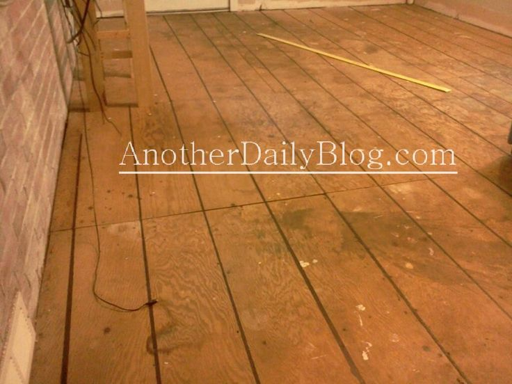how to prepare plywood floor for painting