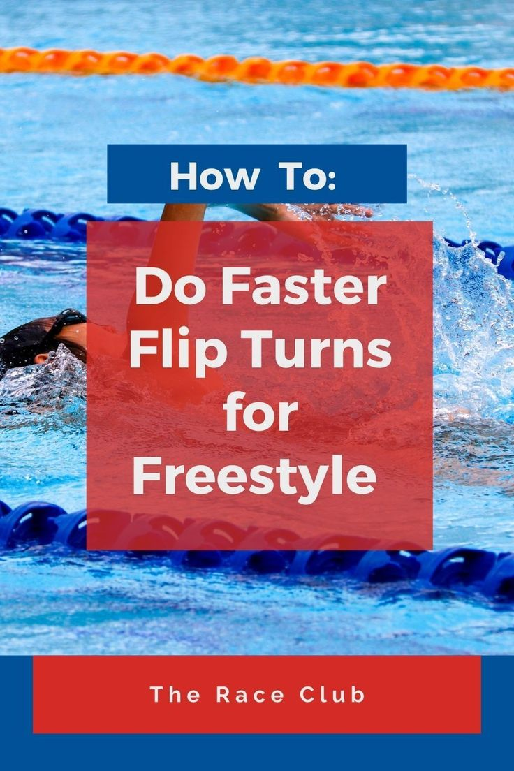 How to do faster flip turns in freestyle swimming