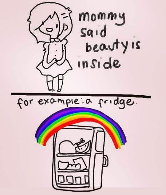 Beauty is on the inside.
