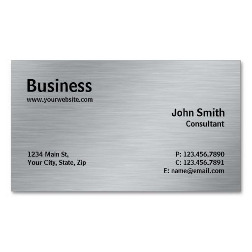 256 best elegant business cards images on pinterest elegant silver professional elegant metal modern plain business card fbccfo Image collections