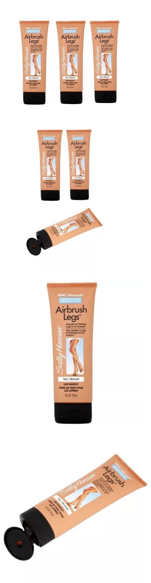 Other Sun Protection and Tanning: Sally Hansen Airbrush Legs Smooth On Tan Bronze - Leg Makeup 4 Oz Lot Of 3 -> BUY IT NOW ONLY: $38.97 on eBay!